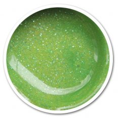 UV gel barevný G67 - Light green glitter