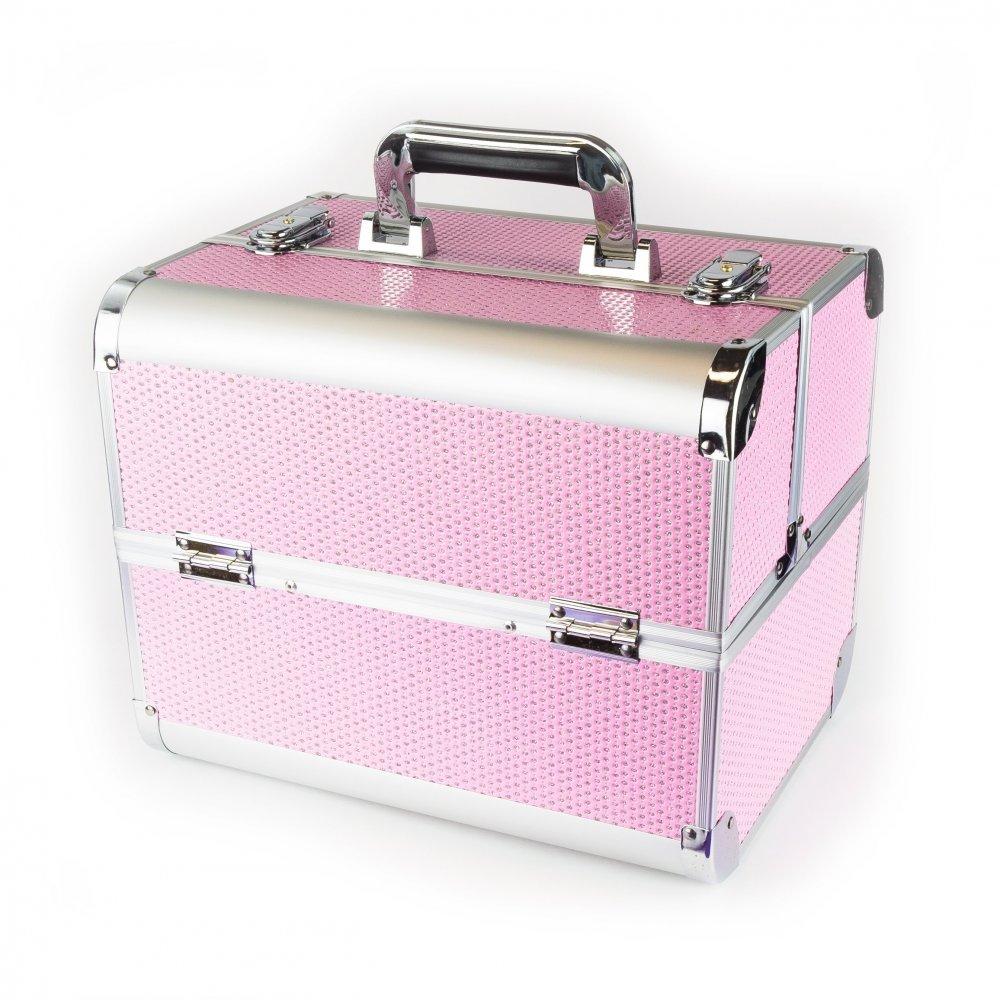 Kosmetický kufřík Crystal PINK