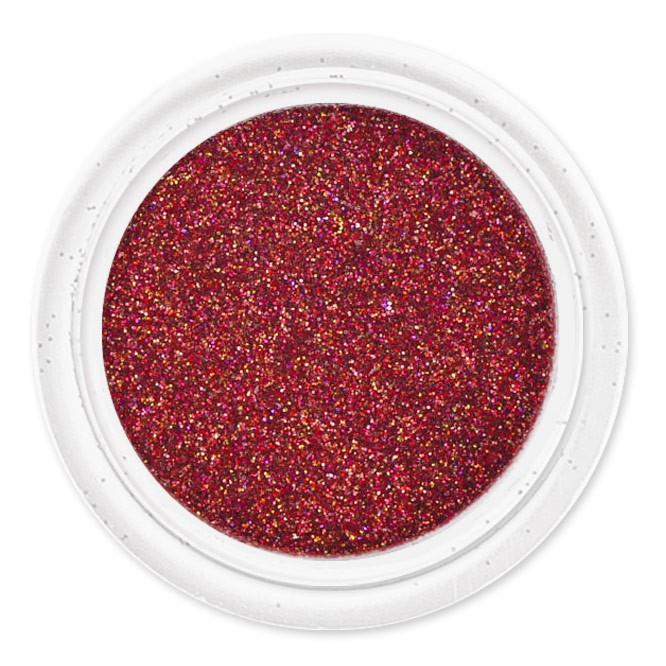 Brokát červený-na zdobení nehtů B2